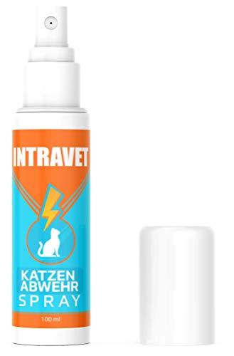 Saint Nutrition NEU: Intravet by Katzen ABWEHR Spray für Innen und Außen – Katzenfernhaltespray...