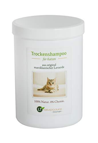 Trockenshampoo für Katzen - mit original marokkanischer Lavaerde | Vegan und Bio | zur chemiefreien...