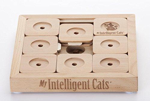 My Intelligent Interaktives Katzenspielzeug aus Holz Cat' Sudoku Profi