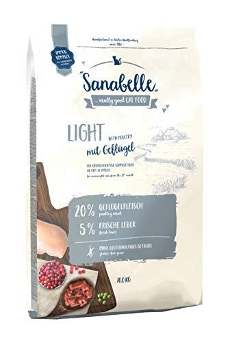 Sanabelle Light   Katzentrockenfutter mit vermindertem Energiergehalt für übergewichtige Katzen,...