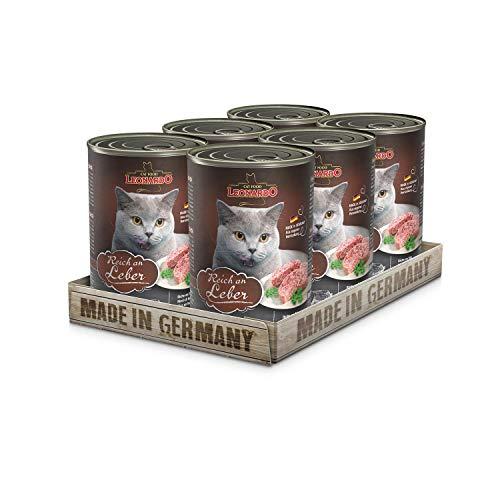 Leonardo Nassfutter [6x400g Leber] | Getreidefreies Nassfutter für Katzen | Feuchtfutter...