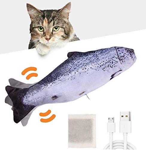 Huarumei Flippity Fish Katzenspielzeug Elektrisch Fisch, Katze Spielsachen Flipity Fisch USB mit...