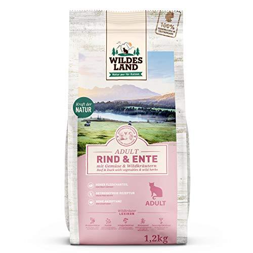 Wildes Land | 1,2 kg | Trockenfutter für Katzen | Rind und Ente | Getreidefreie Rezeptur | Hoher...