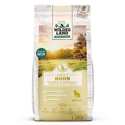 Wildes Land   1,2 kg   Trockenfutter für Katzen   Huhn   Getreidefreie Rezeptur   Hoher...