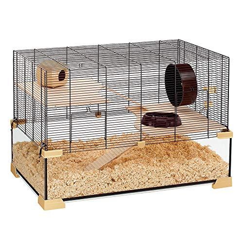 Ferplast Käfig für Hamster oder Mäuse KARAT 80 Kleine Nagetiere, Zwei Ebenen mit Zubehör, aus...