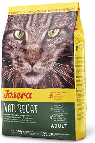 JOSERA NatureCat (1 x 2 kg) | getreidefreies Katzenfutter mit Geflügel und Lachs | Super Premium...