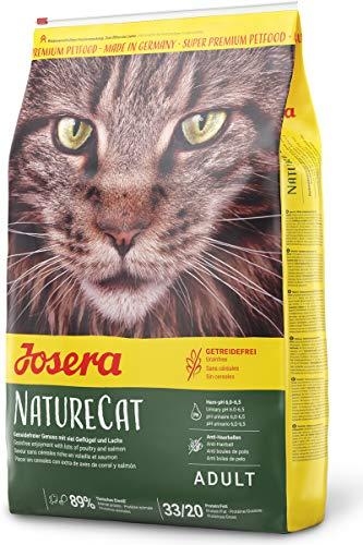 JOSERA NatureCat (1 x 10 kg)   getreidefreies Katzenfutter mit Geflügel und Lachs   Super Premium...