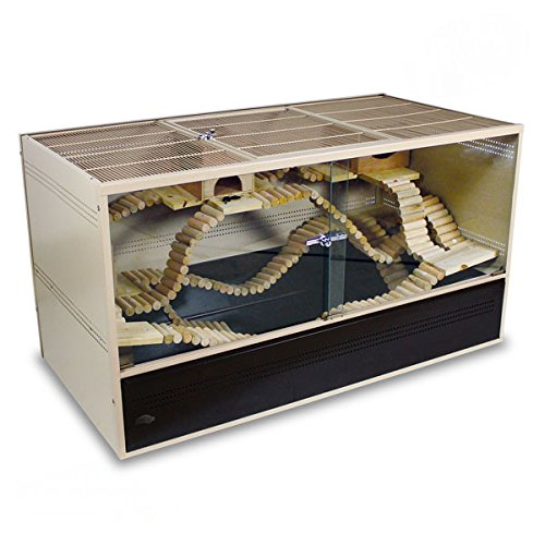 Montana Cages ® | Nagerkäfig, Käfig aus Metall für Nager Vivario 120 - Choco/Vanilla
