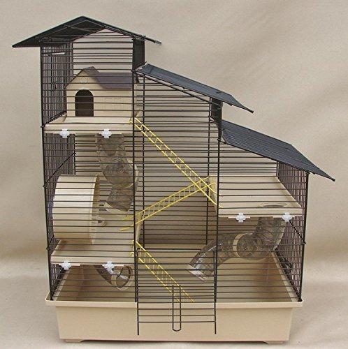 Super Hamsterkäfig, Nagerkäfig, Käfig 'Kaskada' beige Schale Gratis Futternapf …