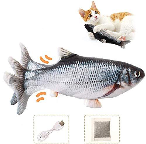 Charminer Katzenspielzeug Elektrische Fische, Katze Interaktive Spielzeug USB Elektrische Plüsch...